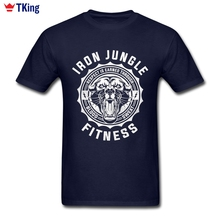 Iron Jungle Fitness T Shirt 3XL Short Sleeve Custom Men's T-shirts Hiphop 3d Printer Cotton T Shirts