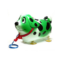 Hot Selling Green Spotty dog shape balloon toy children like cute walking pet balloons party balloons with good quality