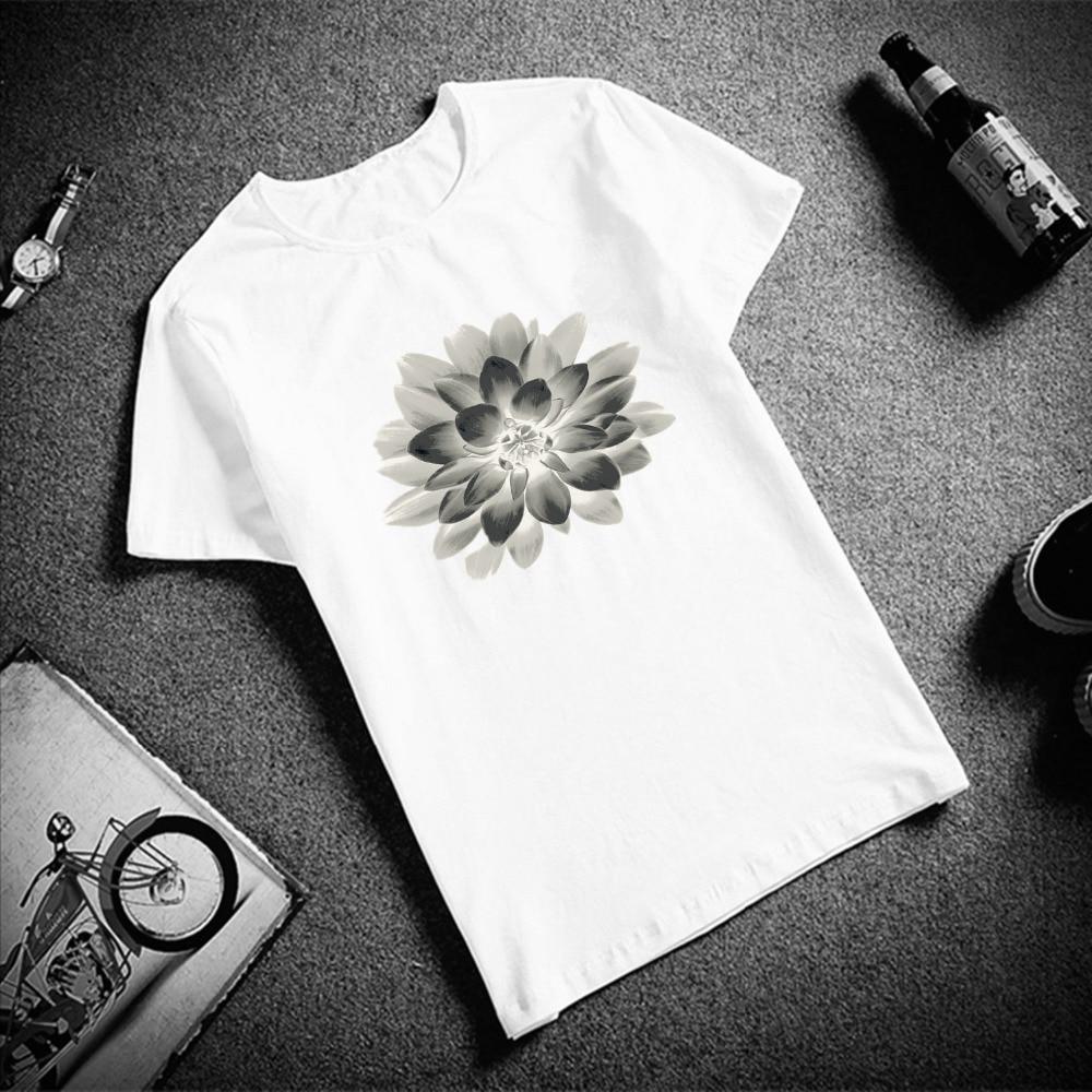 Забавная футболка Будды из мультфильма «Холодное сердце» мира лотоса с короткими рукавами роспись размера плюс короткий рукав бренд Женская футболка Femme