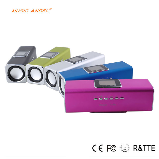 New Arrival MAUK5 original Music Angel Sound Box Built-in Battary LED Screen Fm radio Portable Mini stereo Speaker for Mp3 PC