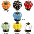 40mm Classical Pumpkins Knobs Europe Ceramic Door Cabinet Cupboard Handles Pull Drawer