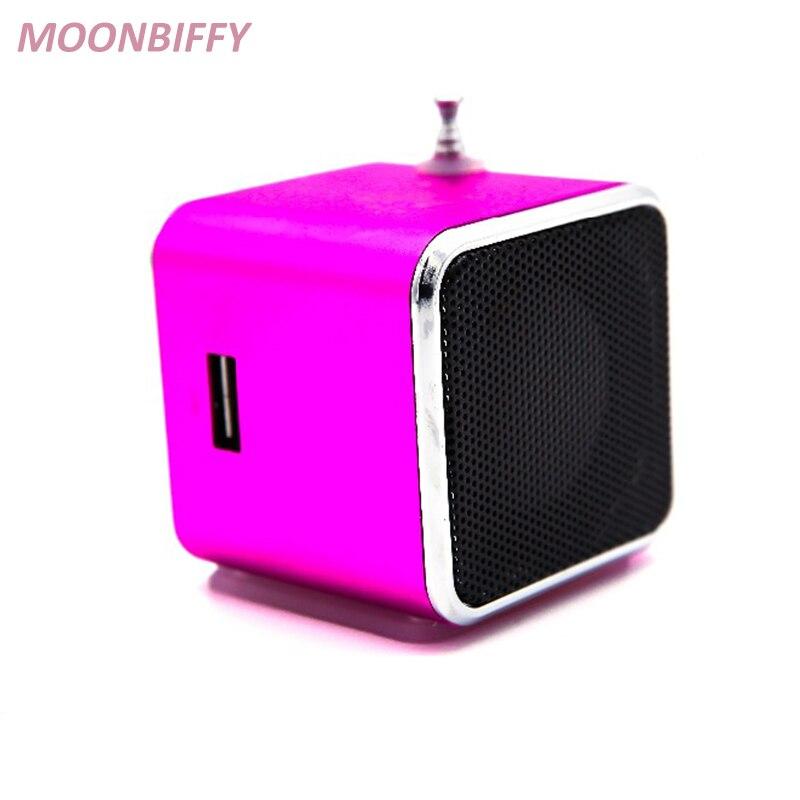 Mini Haut-Parleur Radio Sans Fil Portable Micro USB Haut-parleurs Stéréo Ubwoofer Colonne Super Bass FM Radio Récepteur 2017New Chaude