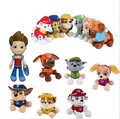 free shipping 7pcs/lot Cartoon  Dog Ryder Marshall Rubble Chase Rocky Zuma Skye Firemen Stuffed Plush Toys 20-30cm