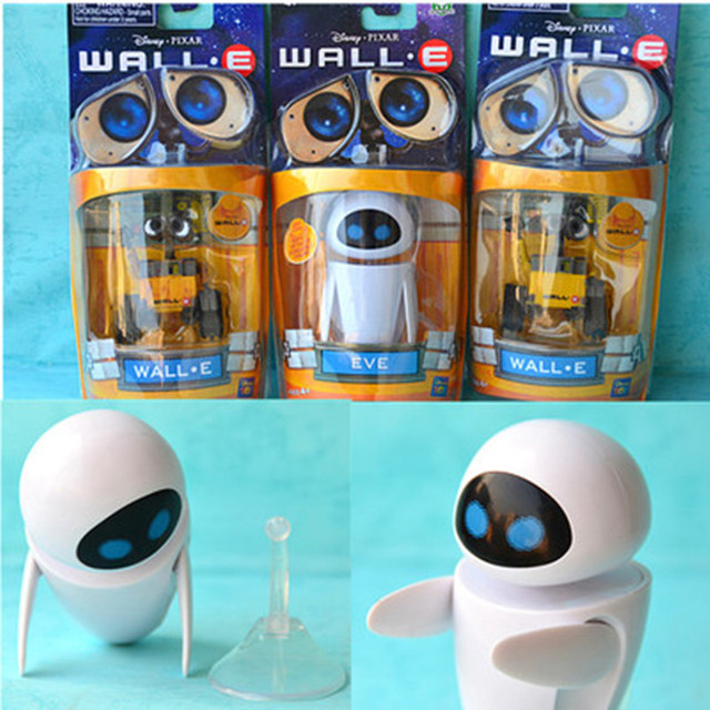 2018 New arrival Wall-E Robot Wall E & EVE PVC Action Figure Collection Model Toys Dolls  WITH BOX 1