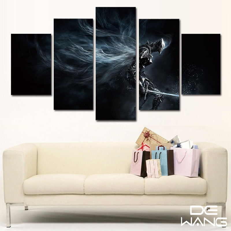 5 Panel Leinwand Kunst Abstrakte Set Tier Film Gerahmtes Bild Wall ...