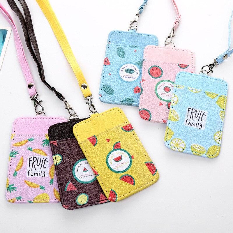 869e01c143 NIBESSER Φρούτα εκτύπωσης Kawaii τσάντα Πιστωτική κάρτα κάτοχοι ...