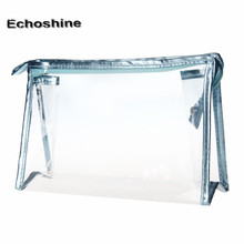 Splendid Transparent Fashion Cosmetic Bag Women Ladies 1PC Clear Waterproof Storage Makeup Bags free shipping & wholesale