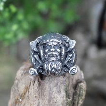 Retro Men's Silver Color Viking Stainless Steel Biker Ring Vintage Celtics Ax Warrior Berserker Symbol Norse Jewelry недорго, оригинальная цена