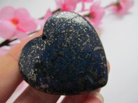 Rare Natural Lapis Lazuli Quartz Crystal Love Heart HEALING Decoration Resistant Healing Stone Feng Shui Decoration