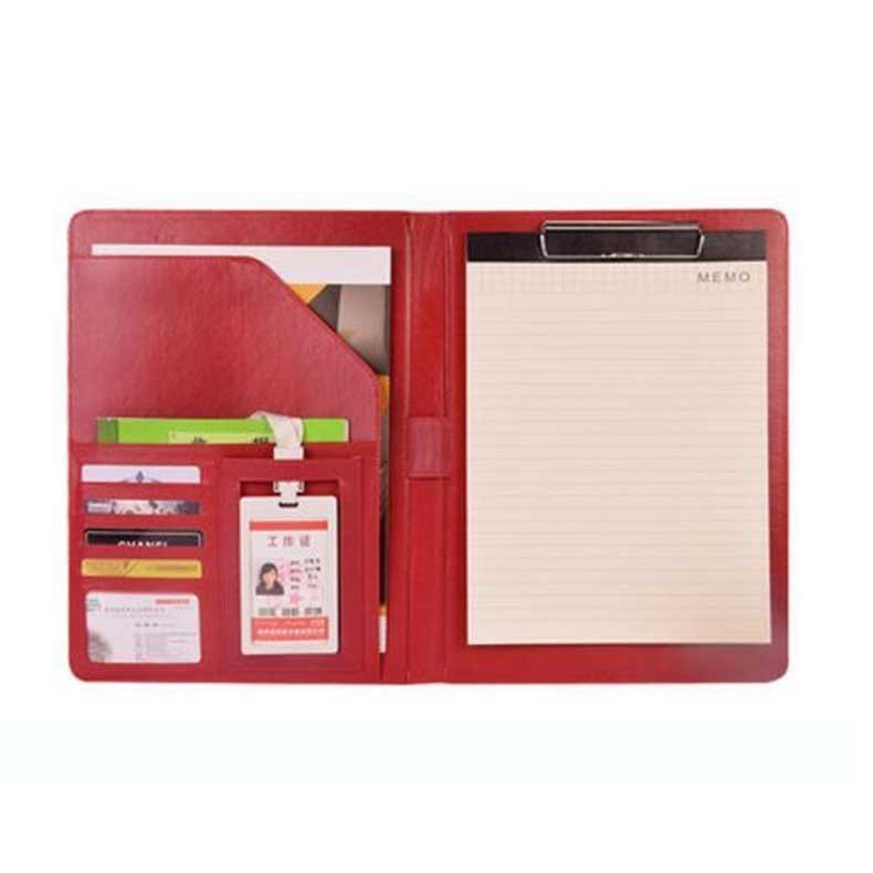 office stationery multi - functional clip board A4 contract signing leather file folder bag sales negotiation escolar/W003 стоимость