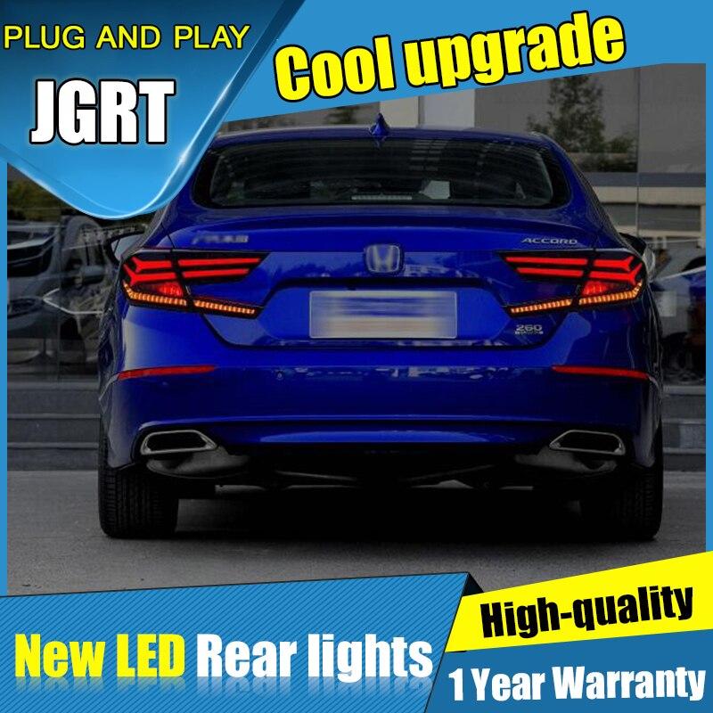 Dynamic turn signal car tail lights For Honda Accord Taillights LED DRL Running lights Fog light Rear parking lights 2018 2019