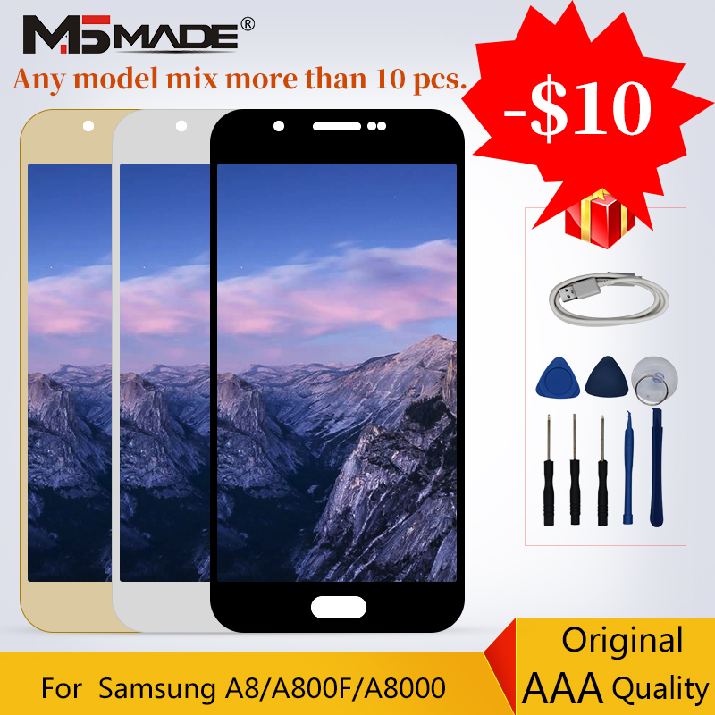 100% Original For Samsung Galaxy A8 A800 LCD Display Touch Screen Digitizer Replacement Assembly Parts A8000 A8000F LCD100% Original For Samsung Galaxy A8 A800 LCD Display Touch Screen Digitizer Replacement Assembly Parts A8000 A8000F LCD