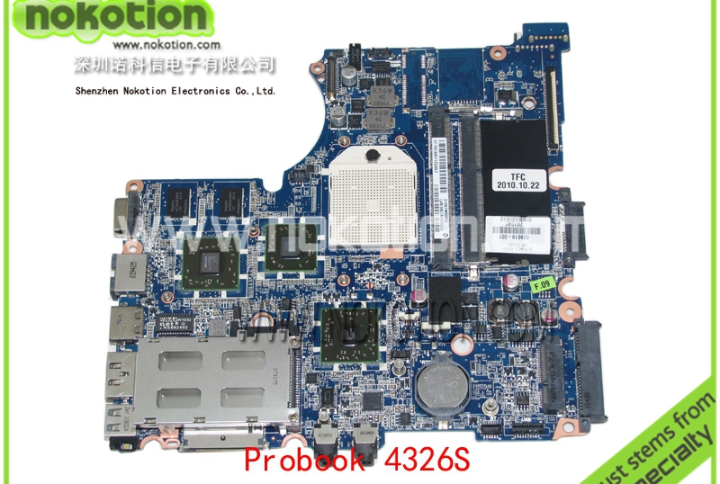 NOKOTION 628619-001 Laptop Motherboard for HP Compaq Probook 4326S Mobility Radeon HD 6370 DDR3 Mainboard nokotion laptop motherboard 574508 001 for hp probook 4411s mainboard s478 pm45 ddr2 video 512mb