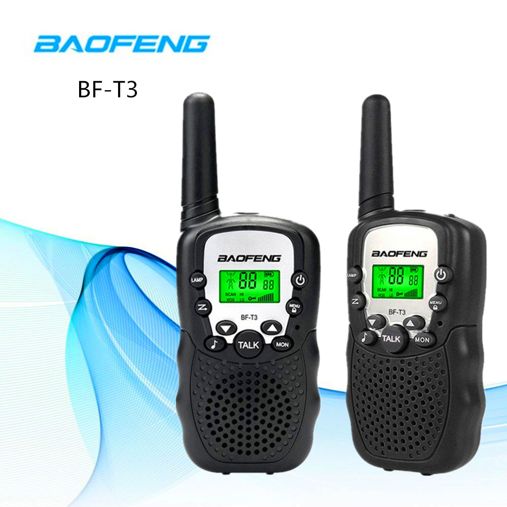 2pcs Children Walkie Talkie UHF BaoFeng BF-T3 FRS Two Way Radio Comunicador T3 Handy Radio HF Transceiver Portable CB Radio