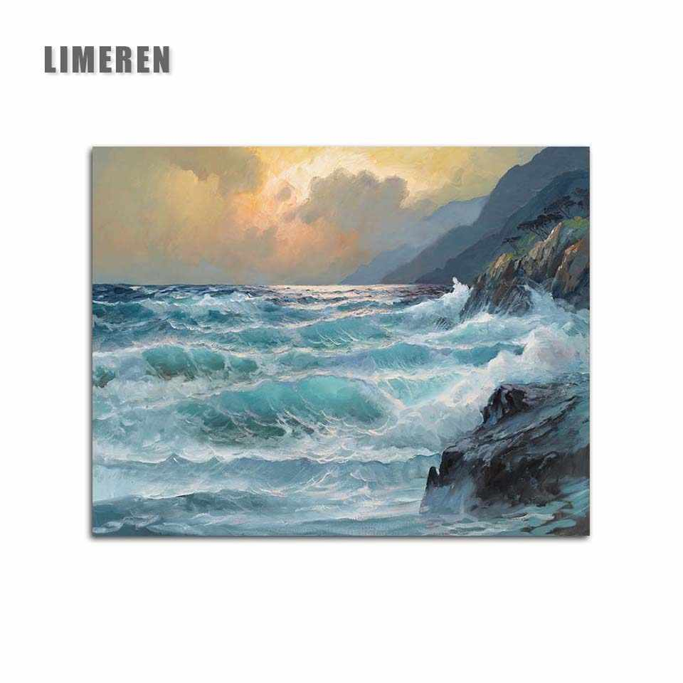 Sea Sunset Coloring By Number Hand Painted Diy Pictures Modular Canvas Oil Painting By Numbers For Living Room Wall Art