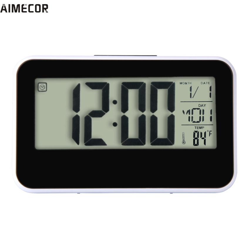 Happy Gifts Fashion Creative Smart Clock LED Snooze Alarm Calendar Temperature
