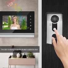 7 дюймов Цвет ЖК-дисплей сенсорная кнопка дверной звонок с видеокамерой домофон Системы pulsante campanello
