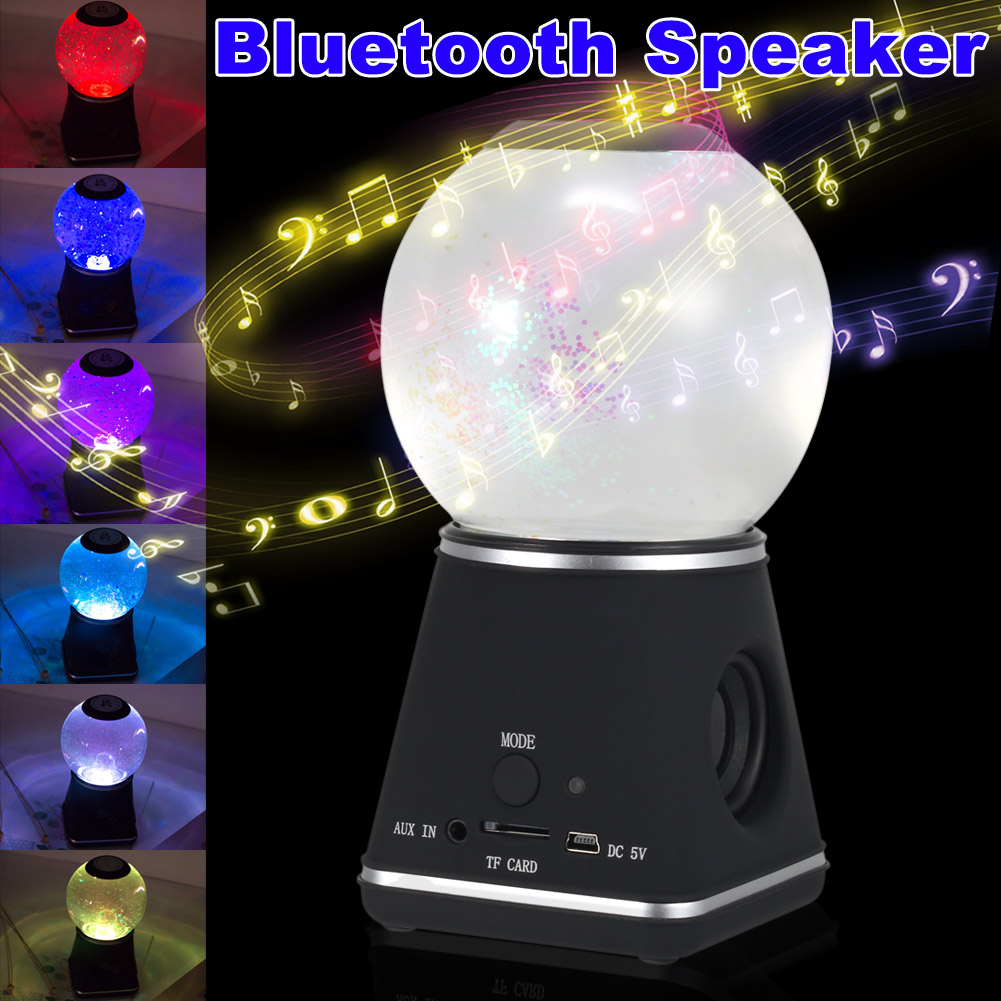 Bluetooth Speakers with Crystal Ball Wireless Portable Speaker for Home Car HSJ 19