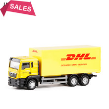 New 1/64 Scale Express MAN DHL Cargo Alloy Truck Model With New Box Toys Collections Displays For Children Gifts Free Shipping(China)