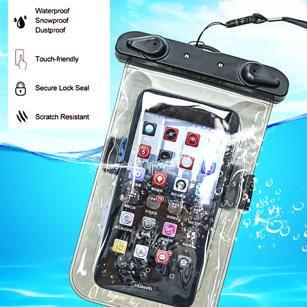 PVC Luminous Waterproof Phone Case Cover For Cell Phone Touchscreen Mobile Iphone 7 Water Proof Underwater Transparent Pouch Bag