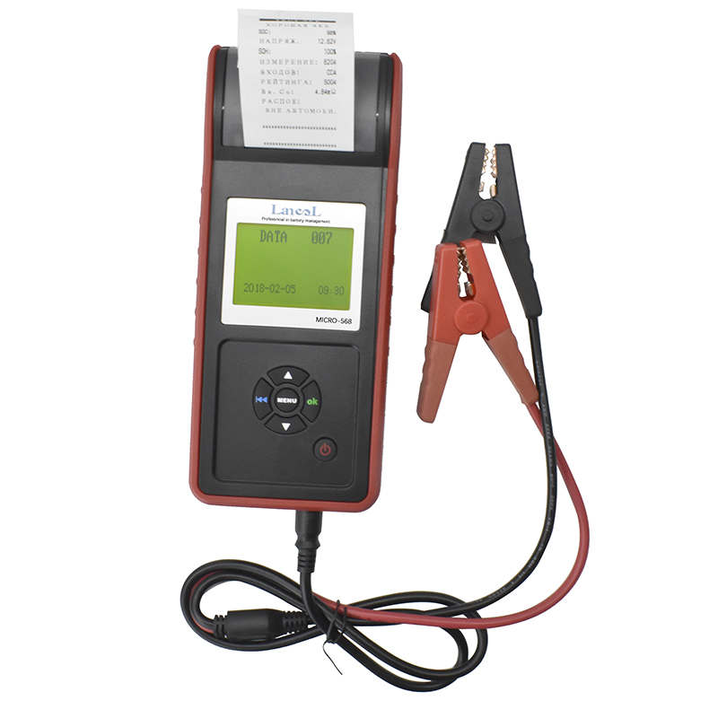 LANCOL MICRO 568 Car Battery Load Tester 2000CCA Battery Tester Analyzer With Printer Battery System Tester