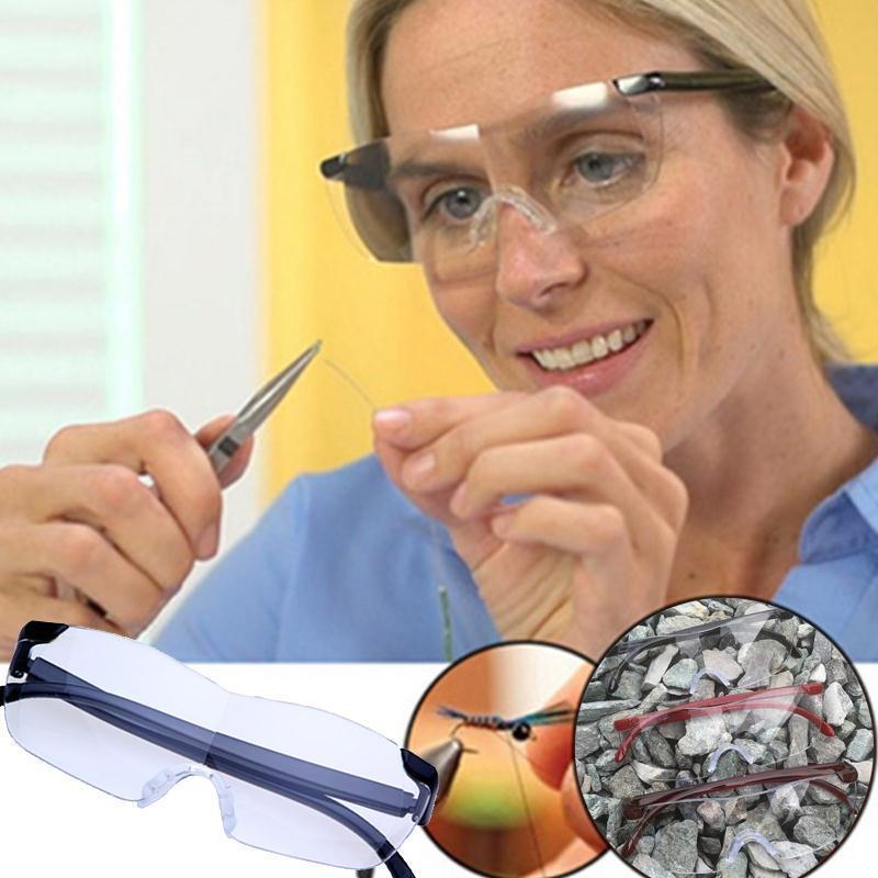 CHUN Big Vision Magnifying 1.6 Reading Glasses Men Women Vintage Eyewear Magnifier +250 Magnifies Vision Lens M119