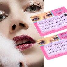 60pcs/Set 10/12 mm Individual Lashe Black Natural Fake False Eyelash Long Cluster Extension Makeup Beauty Health Wholesale