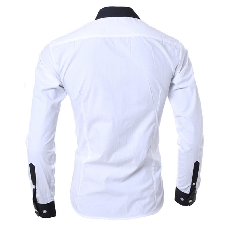 2018 shirt Men Summer Brand Personality Long Sleeve Slim Fit Male Basic T Shirt Blouse Top Size M-XL camisa masculina #FM21 (13)