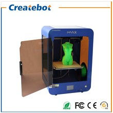 Createbot 280*250*400mm big print size 3d printer with dual nozzle touch screen