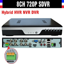 New CCTV 8ch 720P DVR H.264 Recorder 8 Channel CCTV SDVR Hybrid HVR NVR DVR 8 CH NVR Video Recorder Analog Camera IP Camera