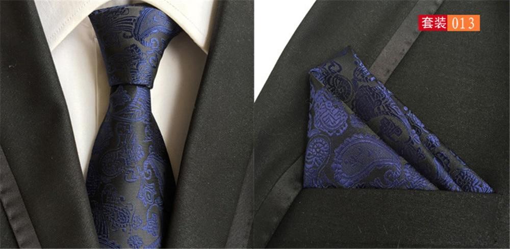 Apparel Accessories Fashion Style Cityraider Dark Blue Paisley Floral Print Silk Ties For Men Gift Necktie Slim Necktie Handkerchief With Match Tie 2pcs Set Cr019 Aesthetic Appearance