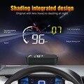 Автомобильный OBD2 HUD Дисплей Цифровой спидометр лобовое стекло проектор считыватель двигателя об/мин код неисправности температура воды 35