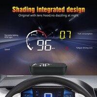 Auto OBD2 HUD Head Up Display Digital Tacho Windschutzscheibe Projektor Reader Motor RPM Fehler Code Wasser Temperatur 35