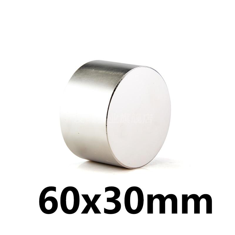 1 pièces chaude aimant 60x30mm N35 Ronde aimants puissants puissant Néodyme aimant 60x30mm Magnétique en métal 60*30