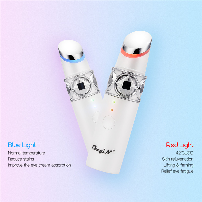 Electric Eye Massager Roller Hot/Cold Compress Vibration Eyes Massage Pen Anti Wrinkle Relief Dark Circle Puffiness Eye Care 45
