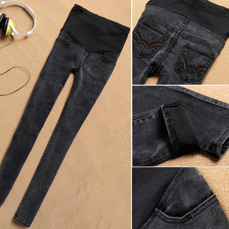 60e32c044 Pantalones Vaqueros de maternidad Para Las Mujeres Embarazadas Más El Tamaño  de Cintura Elástica Pantalones de Mezclilla Skinny Jeans Ropa de Embarazo  Negro ...