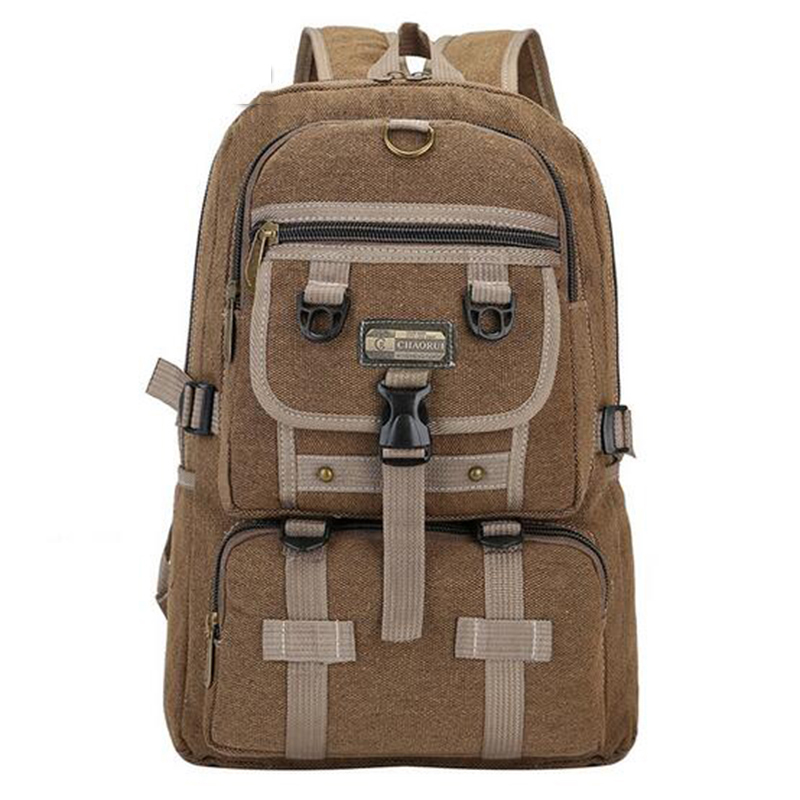 Senkey style Men Big Canvas Backpacks for Men travel large capacity travel bag arcuate shoulder strap zipper solid male backpack