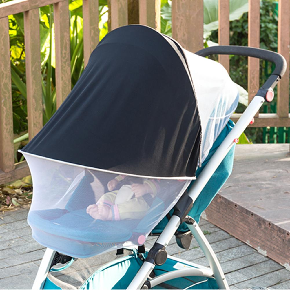 Baby Multifunction Stroller Universal Mosquito Net Sun Shade Anti-UV Foldable Mosquito Net Super UV Protection Sun Visor Canopy baby stroller pushchair mosquito insect shield net safe infants protection mesh stroller accessories mosquito net trq0085