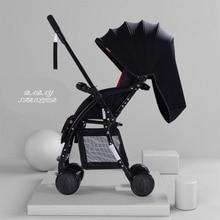 New Portable two-way high landscape light stroller four wheel breathable newborn folding