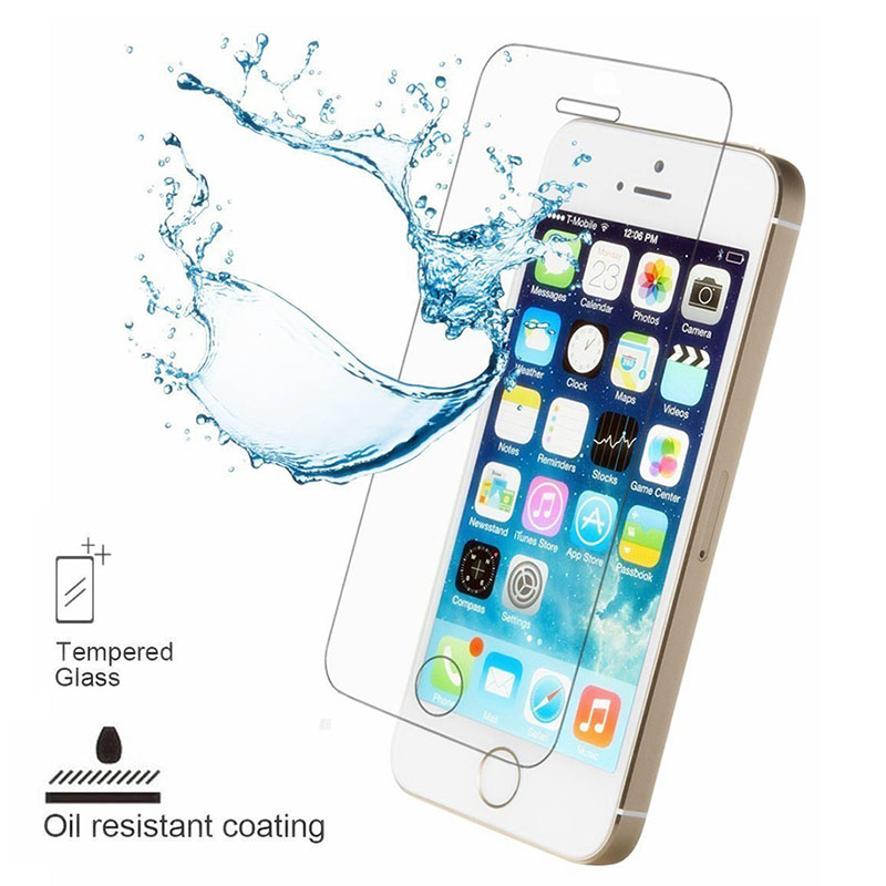 Explosion proof Tempered Glass For iPhone 5 5s SE 9H 0 26MM Anti Scratch Screen Protector For iPhone 5 5s SE Protective Film in Phone Screen Protectors from Cellphones Telecommunications