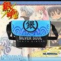 Unisex Anime japonês Gintama Soul Silver ombro escola meninos personalizado Blcak jogo azul mensageiro saco de ombro