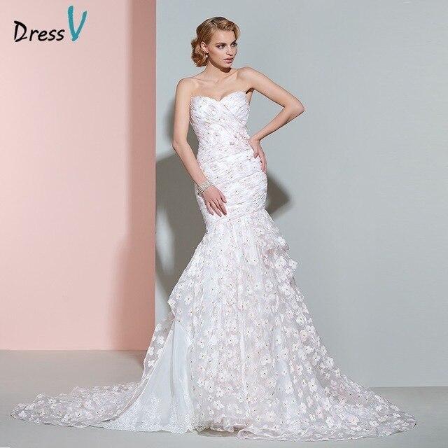 Dressv hochzeitskleid luxuriöse schatz gericht zug lange brautkleid ...