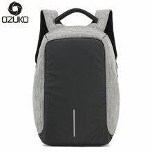 OZUKO Marke Business Männer diebstahl Rucksäcke Multifunktions-usb-ladekabel Mode Rucksack 14 zoll Laptop Rucksäcke Männlichen Mochila