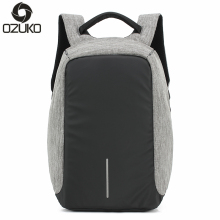 OZUKO Brand Business Men Anti-theft Backpacks Multifunction USB Charging Fashion Backpack 14 inch Laptop Rucksacks Male Mochila