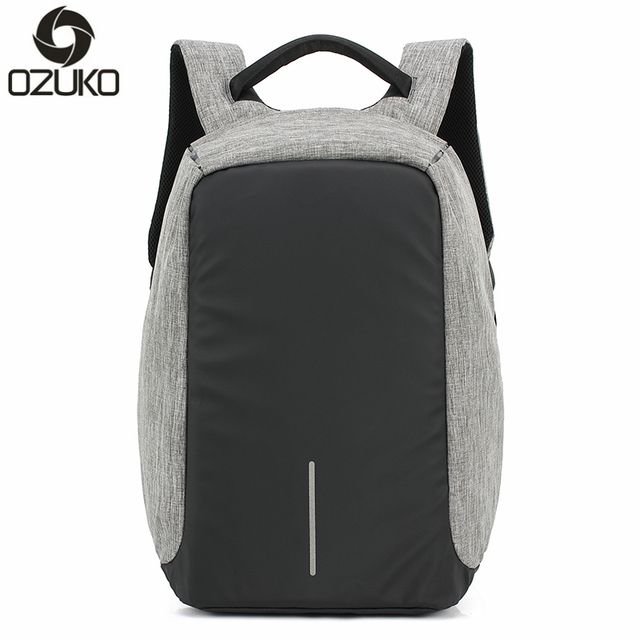 OZUKO Brand Business Men Anti theft Backpacks Multifunction USB ...