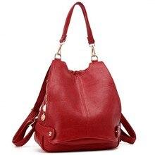 Bolso de hombro de viaje para mujer, mochila escolar multifunción de cuero, mochila escolar para adolescentes, mochila de diario para niñas