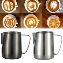 Stainless Steel DIY Pull Flower Coffee Cup Cappuccino Latte Cream Milk Frothing Pitcher Thermo Art Tools