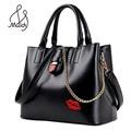 Classic Tote Handbag Women Shoulder Bag Flap Chain Vintage Messenge Italian Leather Bags Designer Brand Female Large Big Casual