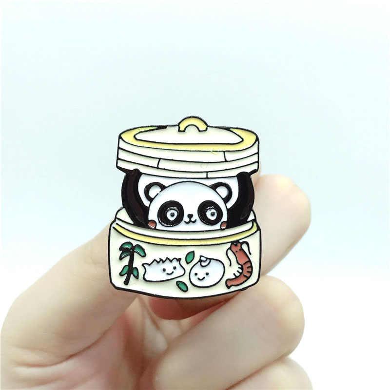Новый панда банка брошь голова панды Милая свинина детский Забавный Джинсовый Рюкзак Подвеска на рюкзак ювелирный подарок
