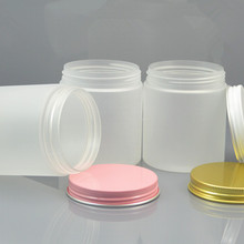 30pc/lot 250g Plastic Cosmetic Jar Frost Serum Bottle Gold White Pink Aluminum Cover Cream Container